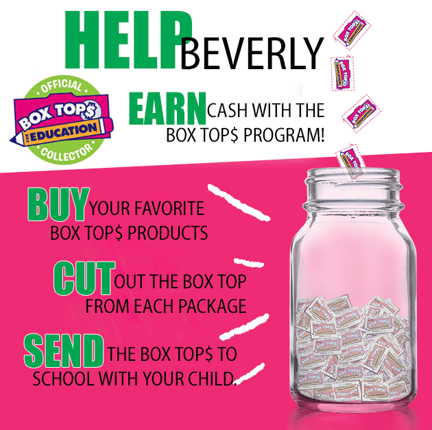 Beverly School PTO Box Tops for Education